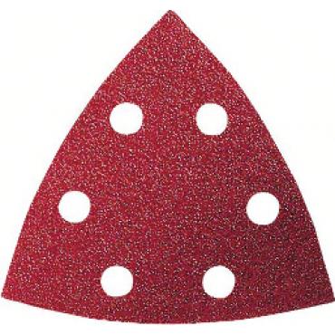 Pack de 50 feuilles abrasives triangulaires BOSCH - 93x93 mm - P80 - 2608607880