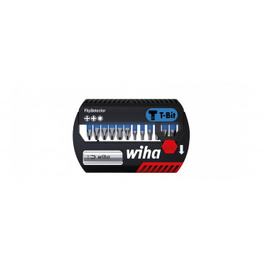 Embouts de vissage Philips Pozidriv et Torx FlipSelector WIHA - embout T 25 mm - 13 pièces - 41824