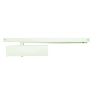 Ferme-porte TS Wood GEZE - Force 3 fixe - crémaillère elliptique - Blanc - 131188