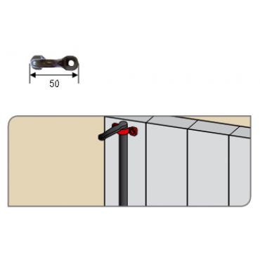 Pontet à visser cataphorèse pour espagnolette TORBEL - 740084