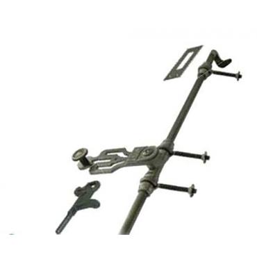 Sachet d'accessoires TORBEL pour espagnolette de croisée - noir cataphorèse - 0560S46