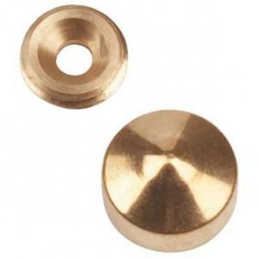 Cache pour vis de 6 à 8 mm QDRC - laiton chromé - Ø 22 x 8 x 8.1 mm - 9038D22S03