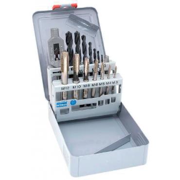 Coffret métal de 15 foret s et tarauds RISS - tourne à gauche n°1 - X015V3152