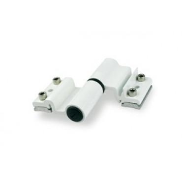 Paumelle à clamer alu 5511I Velox Top FAPIM pour porte lourde - Blanc technal - 5531_QT