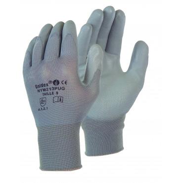 Gant nylon enduit gris SINGER - Manutention légère en milieu sec - Taille 8 - NYM213PUG08