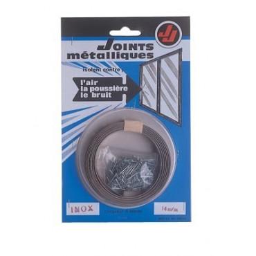 Joint de calfeutrage métallique inox JOURJON - larg.14 mm - Rouleau de 6 m - 050111