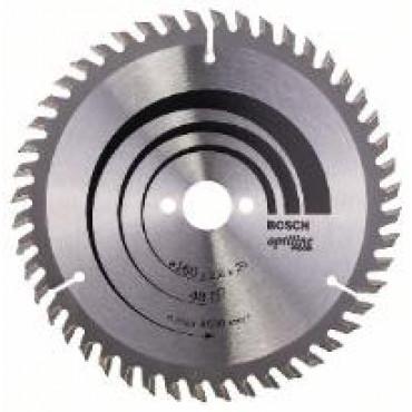 Lame de scie circulaire BOSCH Optiline Wood Ø 20mm - 160X20/16X2.6 - 48D ALT - 2 608 640 732