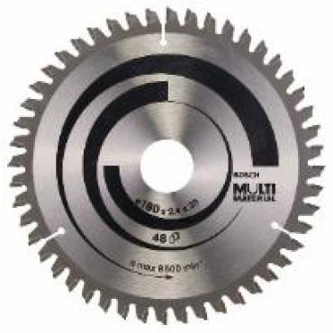 Lame de scie circulaire BOSCH Multi Material Ø 20mm - 180X30/20X2.4 - 2 608 640 507
