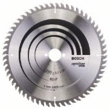 Lame de scie circulaire BOSCH Optiline Wood Ø 30mm -  250X30X3.2 - 60D - 2 608 640 665