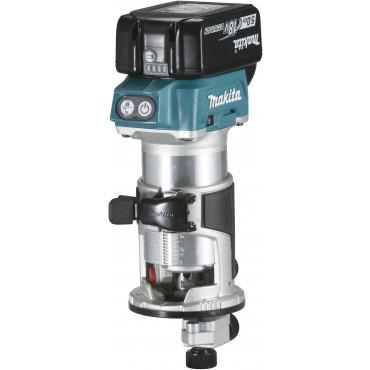 Affleureuse 18 V 5 Ah 8 mm ( kit d'accessoires) MAKITA - DRT50RTJX3