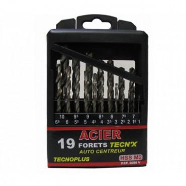 Coffret de 19 forets HSS N°2 TecnX RISS - 3086VB01