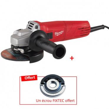 Meuleuse MILWAUKEE 1000W 125MM AG 10-125 + Ecrou Fixtec OFFERT - 4933447090.