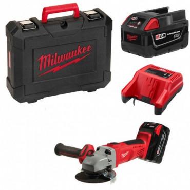 Meuleuse d'angle MILWAUKEE HD28 AG125-32 X - 28V 3.0Ah + 2 batteries, chargeur en coffret - 4933432235