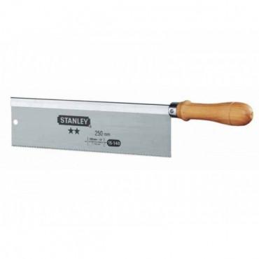 Scie à dos à araser 250 mm STANLEY poignée bois droite - 1-15-140