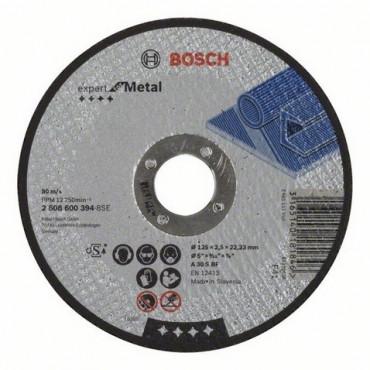Disque EXPERT à tronçonner BOSCH à moyeu plat Spécial métaux 125X2.5 MM - 2608600394