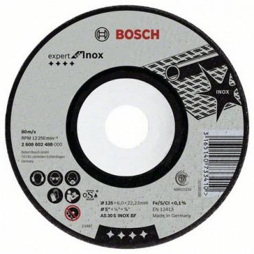 Disque à tronçonner Expert Inox BOSCH - 125 x 6.0 mm - 2608602488