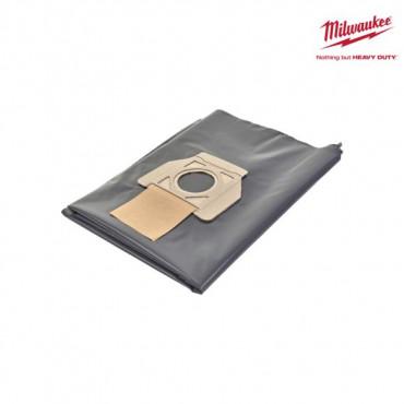 Sac à poussière MILWAUKEE plastique - 5 pieces - 30 litres - 4932459690