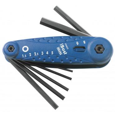 Combi 8 clés mâles métriques BOST - 888620