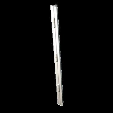 Barre de pivotement H2200 blanc gauche 3 paum 140mm butée bille cornière 25x35 DEVISMES - 10293.