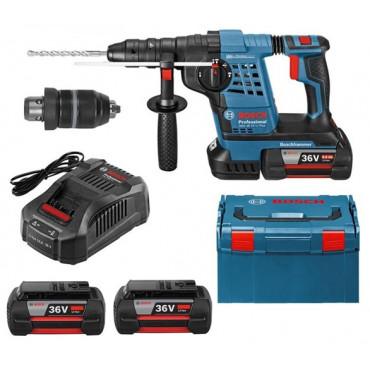 Perforateur GBH 36VF-LI Plus BOSCH Batt.3x6.0Ah + L-Boxx - 0615990L0Z