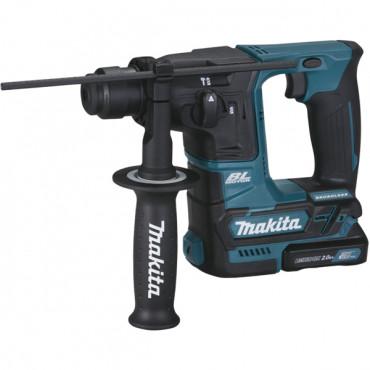 Perforateur 10,8V 2.0Ah SDS-Plus CXT Li-ion MAKITA - Ø 16 mm -  2 batteries + chargeur + coffret + accessoires - HR166DWAE1