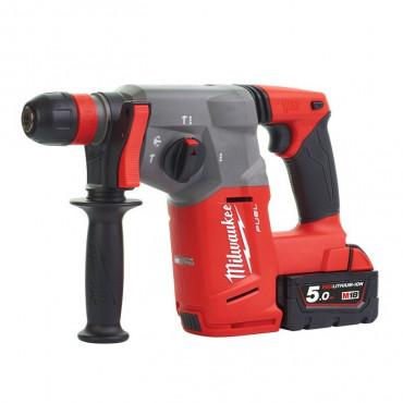 Perforateur MILWAUKEE SDS-PLUS M18CHX-502X - 2 batteries 18V 5.0Ah, chargeur, en coffret - 4933451381