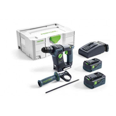 Perforateurs FESTOOL BHC 18 Li 5,2-Plus - 2 batteries 5.2Ah, chargeur, coffret - 574720