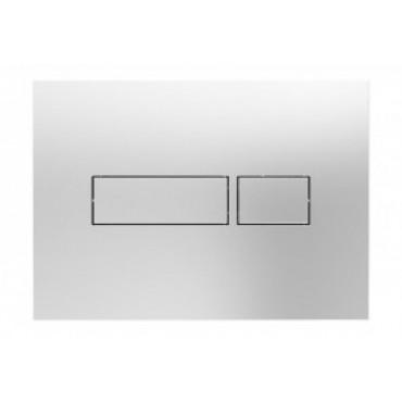 Plaque de commande NICOLL Rec - Double volume - Chromée - PBRECC