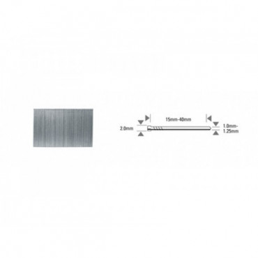 Pointe BT13 acier, tête marron - Longueur:40 mm - Boîte de 5000 - BT13-40-BRO