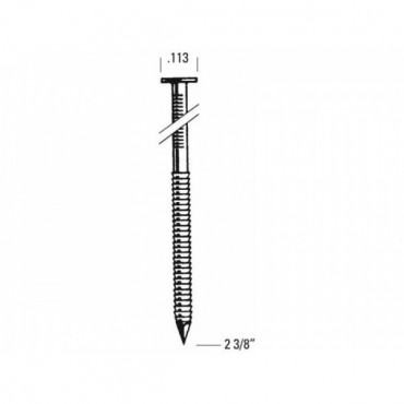 Pointe annelée galva L. 50 mm Boîte de 2000 BOSTITCH - RH25R50G50