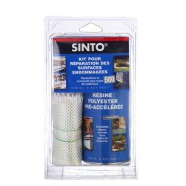 KIT SINTOFER pour réparation des surfaces endommagées 500 ML résine + ½ m² tissu - 31150