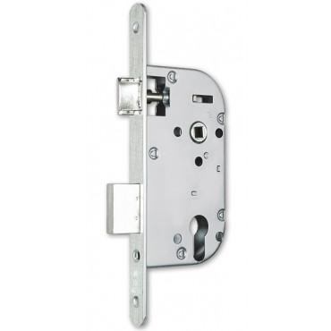 Coffre axe 40 NF métalux clé L gauche aspect inox variure 5 EURO-ELZETT - sans gache réversible - G840XOD7K4L
