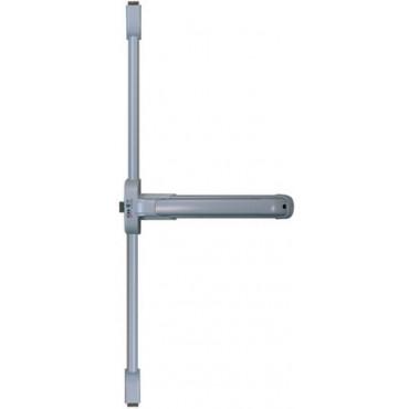 Serrure coupe-feu Push Idea 3 points latéraux + haut/bas ISEO barre grise 840 mm - Noir - 942308455TA