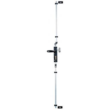 Serrure multipoints Multireverso TIRARD pour volet et porte garage - Alu blanc - Carré 7 Profil EU - WG591010Q
