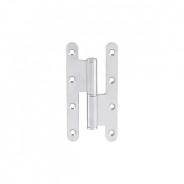 Paumelle en acier inoxydable – 140x70x3 mm bout rond et noeud plat - Gauche - LTPML140X70-304G