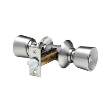 Serrure tubulaire inox V6526 X2TJ VACHETTE 2 entrées Axe 80mm - Forme tulipe Rosace J - 19193000