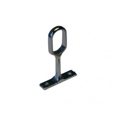 Piton ovale chromé 30 x 15 mm L.76 mm INOX IMPORT - 371