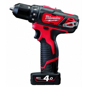 Perceuse Visseuse MILWAUKEE 12V 2 Vitesses 4Ah Red Lithium M12 BDD-402C - 4933441925