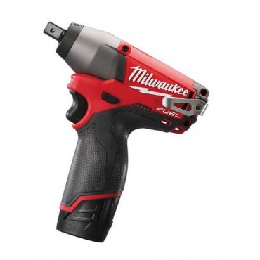 Boulonneuse à chocs MILWAUKEE M12CIW12-0 - 12V 2.0Ah Fuel + 2 batteries, chargeur, coffret - 4933447132