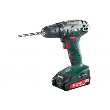 Perceuse visseuse METABO BS18 18V 1.3Ah - Coffret + 2 batteries + chargeur - 602207500