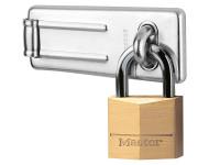 Pack moraillon de porte + cadenas à clé MASTERLOCK - 140703EURD