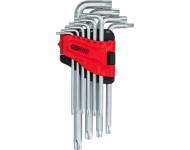 Jeu de clés mâles Torx percées longues KSTOOLS T8 à T50 - 10 pièces - 151.4820