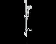 Set de douche HANSGROHE Croma Select S  Vario avec barre Unica'Croma 65 cm et porte-savon blanc/chromé - 26566400