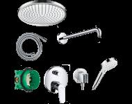 Pack encastré avec mitigeur mécanique bain/douche Focus chromé - 26999000