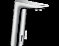 Mitigeur de lavabo HANSGROHE Metris S  électronique avec manette de réglage de température sur secteur chromé - 31102000