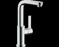 Mitigeur de lavabo HANSGROHE Metris S  bec haut, avec tirette et vidage chromé - 31159000