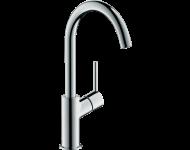 Mitigeur lavabo HANSGROHE Talis  bec haut, avec tirette et vidage chromé - 32084000