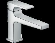 Mitigeur de lavabo HANSGROHE Metropol  poignée manette bec long, bonde Push-Open chromé - 32502000