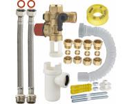 Kit complet de raccordement facile (sans soudure 1/2' NOYON & THIEBAULT - Ø tube cuivre 14 et 16 mm) de chauffe-eau avec groupe de sécurité droit - 7721-ECOC1