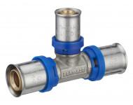 Té réduit à sertir multiprofil TH-H-U pour tubes multicouche - Øs 20-16-20 mm - 311001